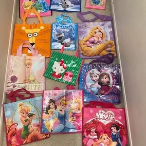 Disney character gift bags